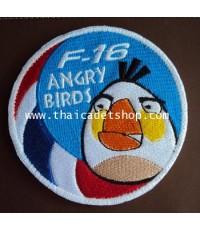 อาร์มผ้า F-16 ANGRY BIRDS