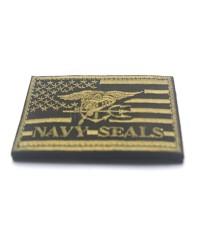 อาร์ม Embroidered Patch US Navy Seals USA Flag Morale Patch