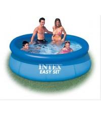 สระน้ำIntex Easy Set Pool  28120  สระน้ําเป่าลมขนาดใหญ่ Easy set Pool 3.05mx76  (สีน้ำเงิน)