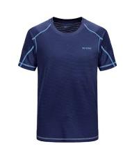 เสื้อยืด ออกกำลังกาย ผู้ชาย แบบแห้งไว Quick Dry Fitness T-Shirt - สีน้ำเงิน