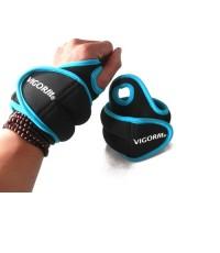 ถุงทราย ถ่วงน้ำหนัก รัดข้อมือ Wrist Sandbag 1.4 x 2 KG (สีฟ้า)
