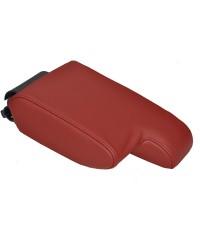 ที่เท้าแขนหนังแท้ สีแดงออกน้ำตาล สำหรับ BMW E36 E46 E90 E91 E92 E93 E81 E87