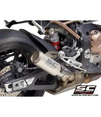 SC Project Slip-on รุ่น CRT ทรงกระป๋อง (Titanium) สำหรับ S1000RR 2020+
