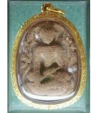 พระขุนแผนใบพุทธาหลวงพ่อหร่ำ วัดกร่าง ปทุมธานี สภาพสวย พร้อมเลี่ยมทอง