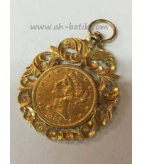 จี้เหรียญราชินีอังกฤษ(จี้กิมตุ้น)