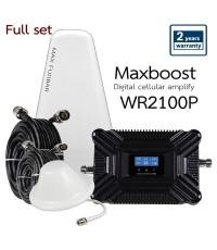 Maxboost ชุดเพิ่ม/ขยายสัญญาณมือถือ 3G/4G 2100MHz รุ่น WR2100P S2