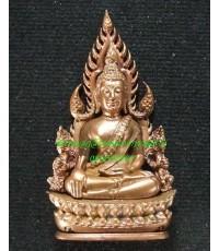 พระพุทธชินราช พิมพ์แต่งฉลุลอยองค์ เนื้อทองชมพู