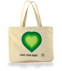 กระเป๋าผ้าแคนวาสสีธรรมชาติ