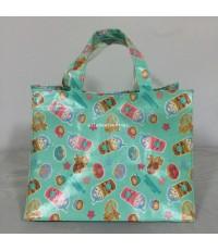 กระเป๋าถือ pvc สีสันสดใส ลายขนม