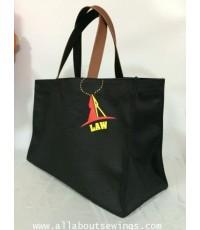 กระเป๋าผ้าแคนวาส สายหนัง ใบใหญ่ (Law)