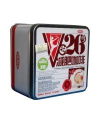 กาแฟV26 กล่องเหล็กสี่เหลี่ยมสีขาว V26 กล่องเหล็กสี่เหลี่ยมสีขาว V26 กาแฟลดน้ำหนัก