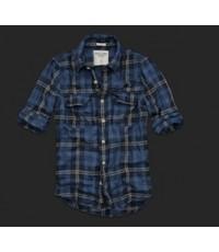 เสื้อเชิ๊ต แขนยาว ลายสก๊อต AbercrombieFitch (AF) Men T-Shirts สำหรับผู้ชาย ของแท้ สินค้านำเข้า