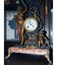 นาฬิกาตั้งโต๊ะ บร๊อนซ์เทวดา นำเข้าจากฝรั่งเศส