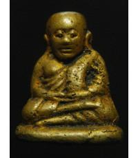หลวงพ่อเงินบางคลาน รุ่นปืนแตก พิมพ์เศียรโต (เศียรบาตร) ปี28 สีทองดอกบวบน้ำทองสุดสวย