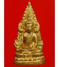 พระพุทธชินราช รุ่น 5 รอบอินโดจีน (ชินราชจอมไทย) เนื้อทองทิพย์ ปี44 พร้อมกล่องเดิมๆ จากวัด