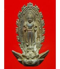 รูปหล่อพระพนัสบดี ปลุกเสก 3 วาระ พิธีใหญ่ สมเด็จพระสังฆราชปลุกเสกเดียว ปี33 เนื้อนวโลหะกล่องเดิม (2)