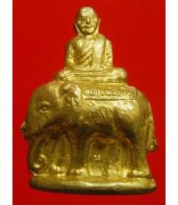 หลวงพ่อเงินวัดบางคลาน พิมพ์ขี่ช้าง รุ่นกำแพงเงิน วัดท้ายน้ำสร้าง จ.พิจิตร ปี2525 เนื้อทองเหลือง