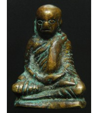 รูปหล่อโบราณพิมพ์เล็ก หลวงพ่อเงินบางคลาน วัดท่ามะไฟ เนื้อทองผสมผิวกลับ สนิมชินสีห์จับเต็ม (พระโชว์)