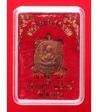 เหรียญพญาเต่าเรือนหลวงปู่หลิว รุ่นเฮงแสนเฮง เนื้อทองแดง วัดไทรทอง ปี39 กล่องเดิม (8)
