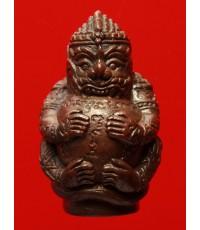 หนุมานรุ่นครองพระนคร หลวงปู่เกลี้ยง วัดเนินสุทธาวาส ชลบุรี เนื้อนวโลหะ ตอก 2 โค๊ต ปี53 (2)