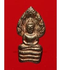พระปรกใบมะขาม รุ่นเสาร์ 5 คูณพันล้าน เนื้อนวโลหะ หลวงพ่อคูณ วัดบ้านไร่ ปี2537 (2)