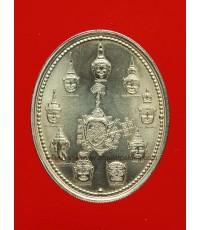 เหรียญเทวบดี (9 เศียร) หลวงพ่ออิฏฐ์ วัดจุฬามณี ปี42 เนื้ออัลปาก้าพร้อมซองกองกษาปณ์เดิม (1)