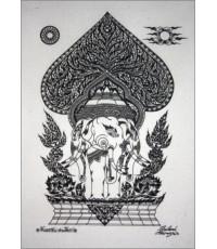 ศิลปะไทยภาพพิมพ์ ช้างเอรวัณ (PP0112)