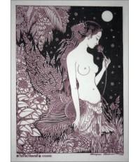 ศิลปะไทยภาพพิมพ์ นางกินรีในป่าหิมพานต์ (PP114)