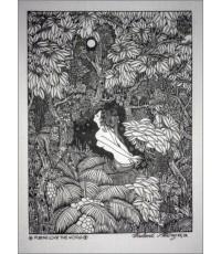 ศิลปะไทยภาพพิมพ์ นางอัปสร (PP182)