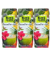 น้ำมะพร้าว King Island 3*250 ml ซื้อสินค้าครบ 500 บาทขึ้นไป จัดส่งฟรีทั่วประเทศ