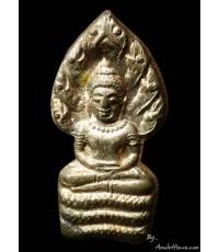 ปรกใบมะขามหลวงพ่อคูณ รุ่นเสาร์ ๕ คูณพันล้าน เนื้อนวโลหะ ปี ๒๕๓๗
