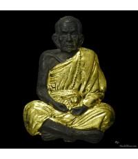 เหรียญหล่อโบราณครึ่งซีก หลวงปู่หมุน เนื้อนวโลหะ ชุดกรรมการพิเศษ หลังจีวร เกศา รุ่น เสาร์ ๕ บูชาครู