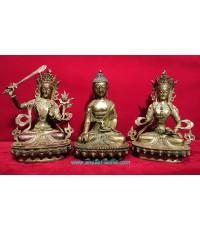 พระพุทธธิเบตและพระโพธิสัตว์ 2 พระองค์ ธิเบตแท้ ชุดที่2