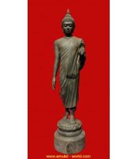 พระพุทธลีลาพุทธมณฑล ภปร. ปี2525 เนื้อโลหะ สูง 9 นิ้ว (องค์ที่1)