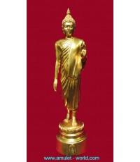 พระพุทธลีลาพุทธมณฑล ภปร. ปี2525 เนื้อกะไหล่ทอง สูง 9 นิ้ว (องค์ที่2)