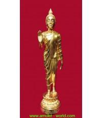 พระพุทธอภัยสมังคี สิรี โภลานมาสโย ในหลวงทรงเสด็จเททอง ปี2525 สูง 23 นิ้ว เนื้อกะไหล่ทอง (องค์ที่ 4)