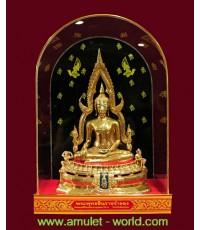 พระพุทธชินราช ภปร. ในหลวงเสด็จทรงเททอง ปี2517 หน้าตัก 5.9 นิ้ว เนื้อกะไหล่ทอง