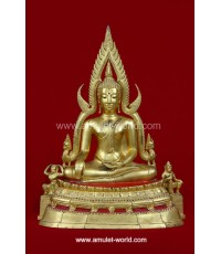 พระพุทธชินราช พิธีจักรพรรดิ์ ปี 2515 วัดพระศรีรัตนมหาธาตุฯ จ.พิษณูโลก หน้าตัก 11.9 นิ้ว ปิดทอง
