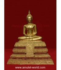 พระประธานวัดระฆังรุ่น 118 ปี พ.ศ.2533 องค์ที่2 ตัก 9 นิ้ว เนื้อโลหะปิดทอง