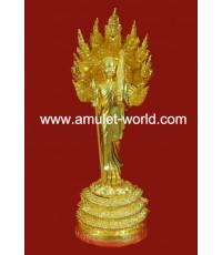 พระสีวลี อ.วราห์ วัดโพธิ์ทอง สูง 17 นิ้ว เนื้อโลหะผสมปิดทองแท้ 2 ถอด