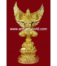 พญาครุฑ อ.วราห์ วัดโพธิ์ทอง สูง 17 นิ้ว เนื้อโลหะผสมปิดทอง