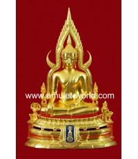 พระพุทธชินราช ภปร. ในหลวงเสด็จทรงเททอง ปี2517 หน้าตัก 9 นิ้ว ปิดทอง (องค์ที่ 6)