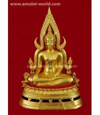 พระพุทธชินราช พิธีมหาจักรพรรดิ์ วัดใหญ่ จ.พิษณุโลก ปี2515 หน้าตัก 9 นิ้ว ปิดทอง (องค์ที่6)
