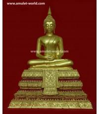 พระบูชา พระประธานวัดระฆัง อนุสรณ์ 118 ปี หน้าตัก 9 นิ้ว ปิดทองทั้งองค์และฐาน สวยมาก หายากครับ