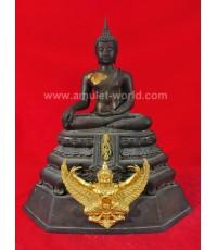 พระบูชา ภปร. วัดทุ่งสีกัน ในหลวงทรงเสด็จเททอง หน้าตัก 9 นิ้ว เนื้อโลหะ (องค์ที่ 6)