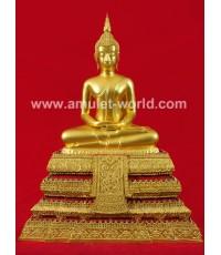 พระบูชา พระประธานวัดระฆัง อนุสรณ์ 118 ปี หน้าตัก 9 นิ้ว ปิดทองทั้งองค์และฐาน สวยมาก (องค์ที่6)
