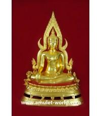 พระพุทธชินราช พิธีมหาจักรพรรดิ์ วัดใหญ่ จ.พิษณุโลก ปี2515 หน้าตัก 9 นิ้ว ปิดทอง (องค์ที่7)