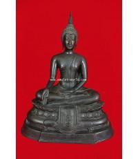 พระบูชา ภปร.ปี08 วัดบวรนิเวศวิหาร หน้าตัก 9 นิ้ว ในหลวงเสด็จเททอง ดินไทย (องค์ที่ 21)