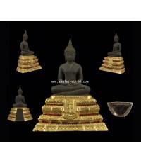 พระประธานวัดระฆังรุ่น 100 ปี พ.ศ.2515 ตัก 5 นิ้ว เนื้อนวโลหะ ในหลวงเสด็จฯเททอง