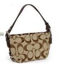 กระเป๋าสะพาย COACH SIGNATURE DUFFLE MAHOGANY HOBO BAG 15068